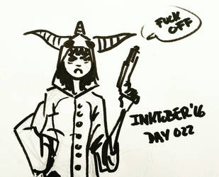 Inktober '16 Day 022 by AdriaMunells
