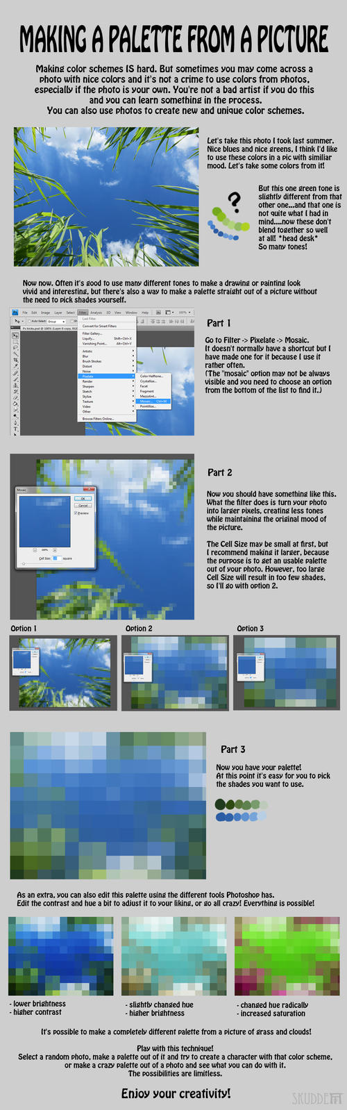 Photoshop Trick - Palette from a picture by Skudde