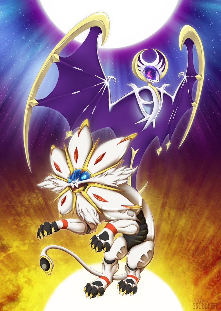 Mane of the sun wings of the moon by skudde on deviantart - Poster pokemon a imprimer ...