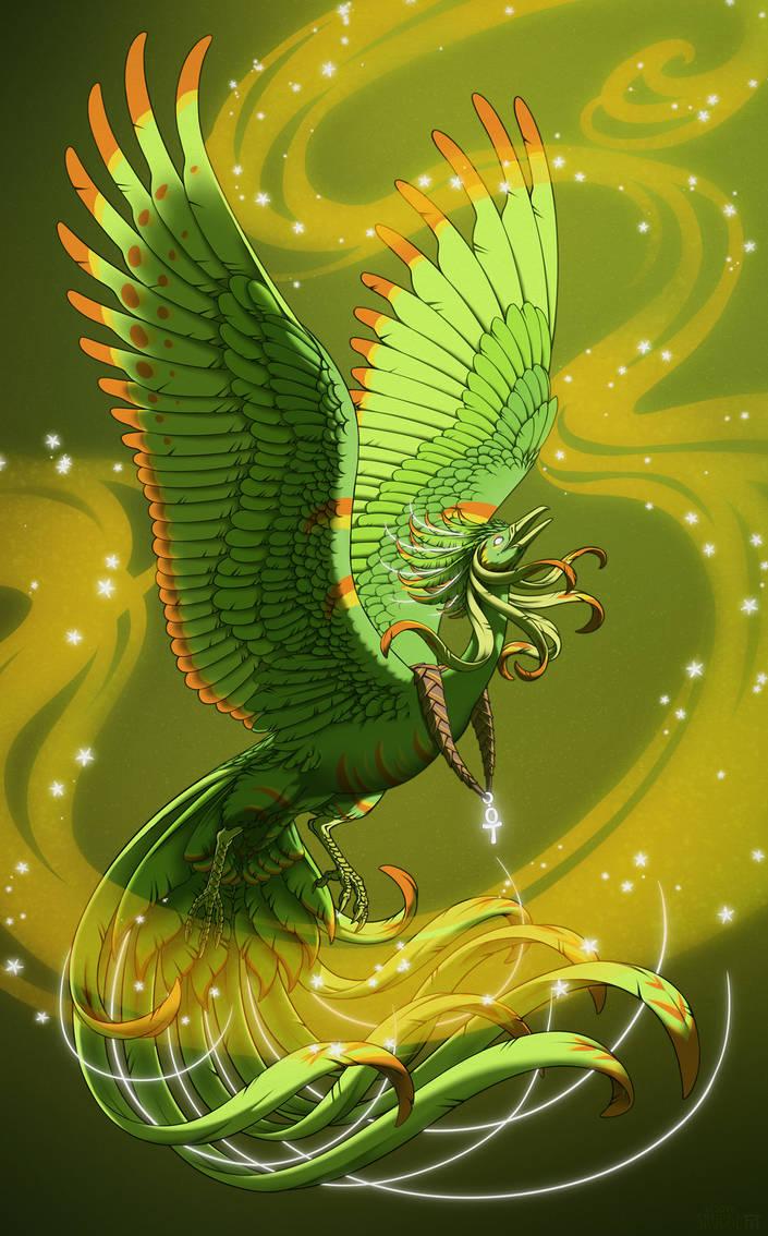 Green Bird of the Legends