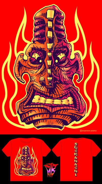 Suckahachi T-shirt design by rawjawbone