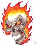 Flaming Skull Design