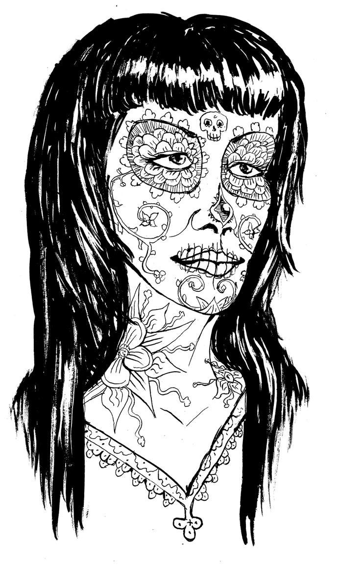 la santa muerte coloring pages - photo #26