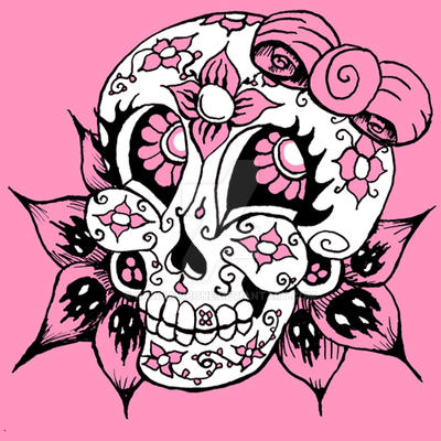 candy skull graphic1 by rawjawbone