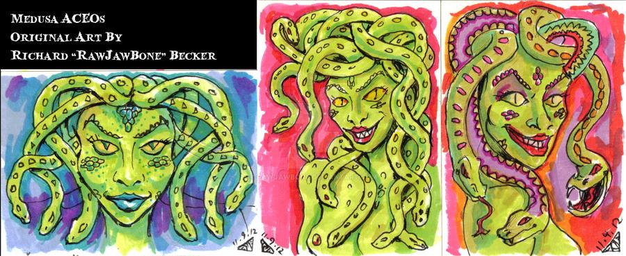 Medusa ACEO by rawjawbone