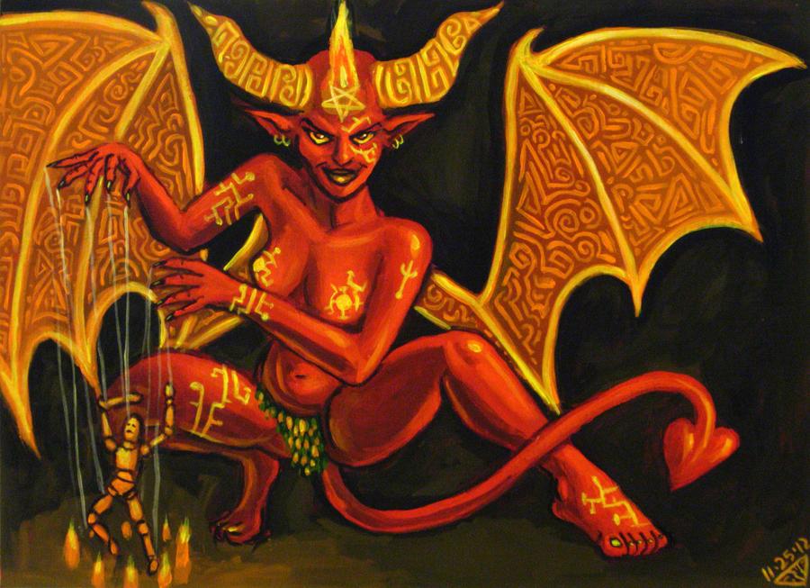 Monster Girl Day 9-Demon by rawjawbone