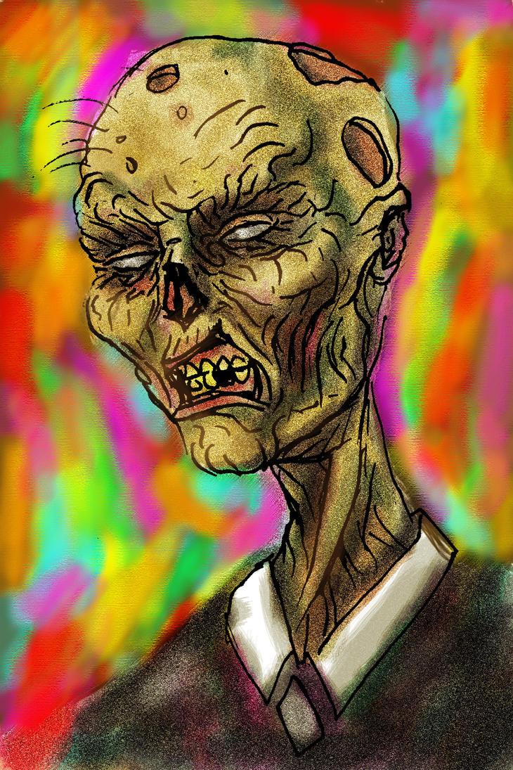 Lich Head speed paint by rawjawbone