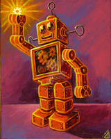 Happy Robot by rawjawbone