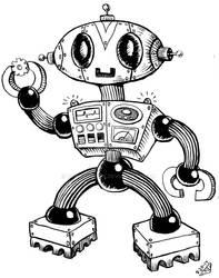 Robot Lineart 2 by rawjawbone
