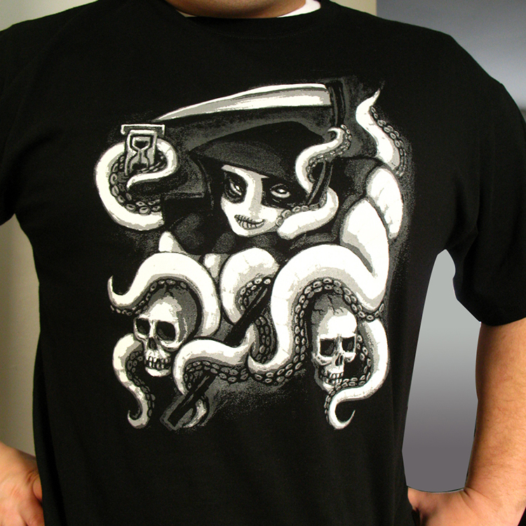 Reaperpuss T-shirt reprint by rawjawbone