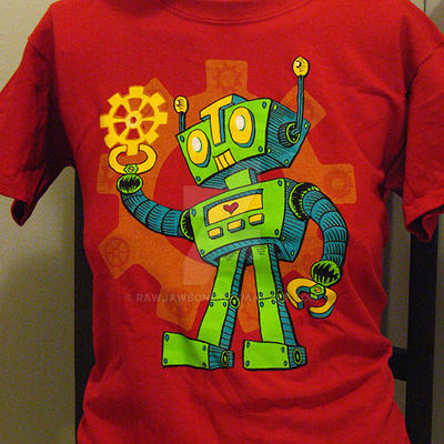 For the Love of COG-Robot T-shirt by rawjawbone
