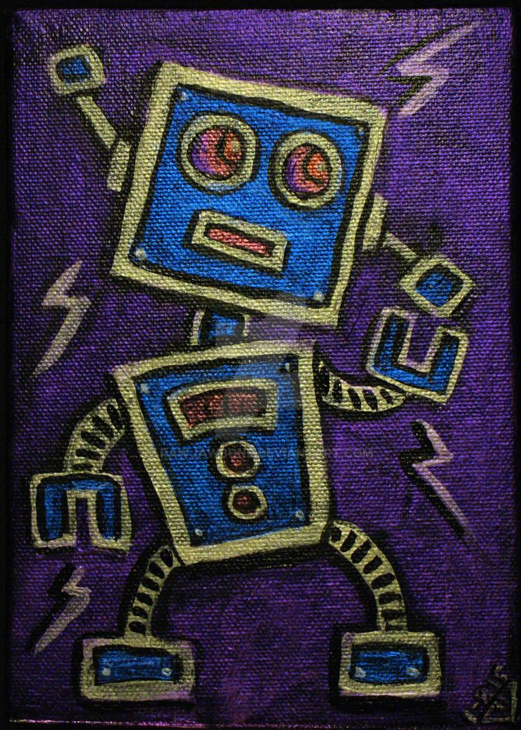 Artbot Mini Metallic 2 by rawjawbone
