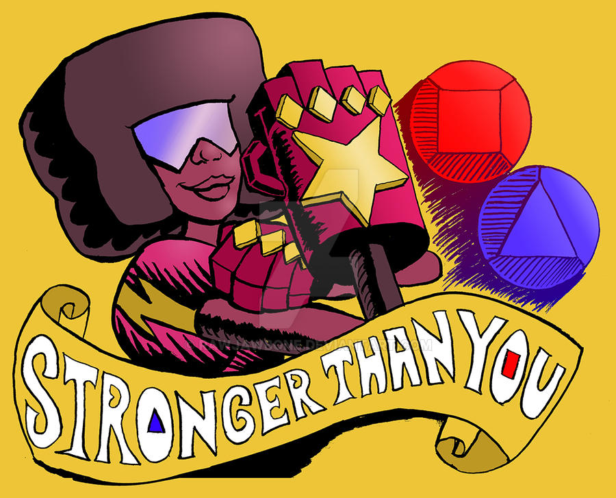 Garnet Stronger than You First Color Proof by rawjawbone