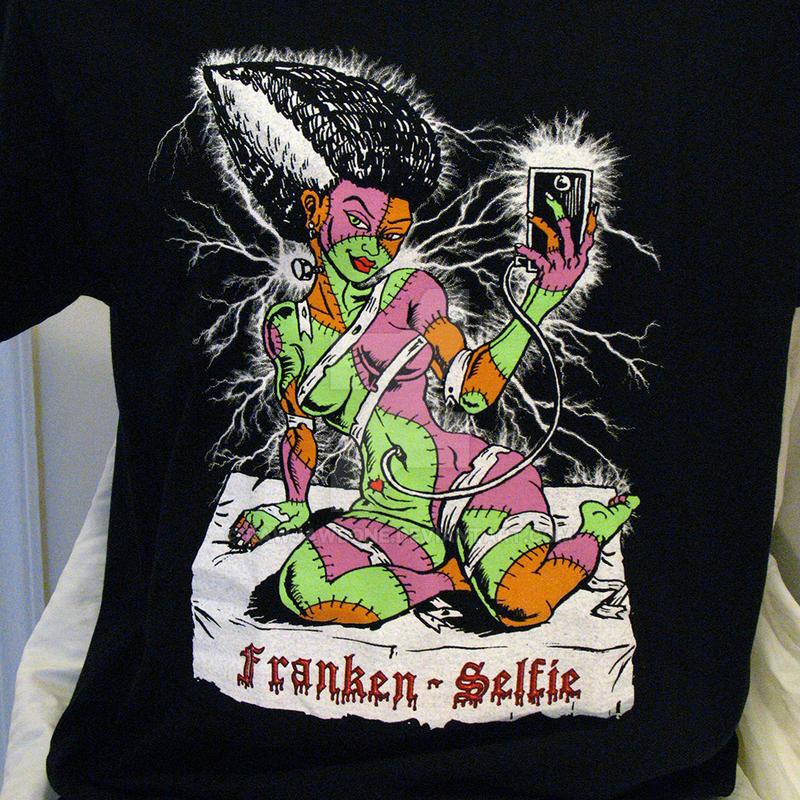 Franken Selfie Color T-shirt by rawjawbone