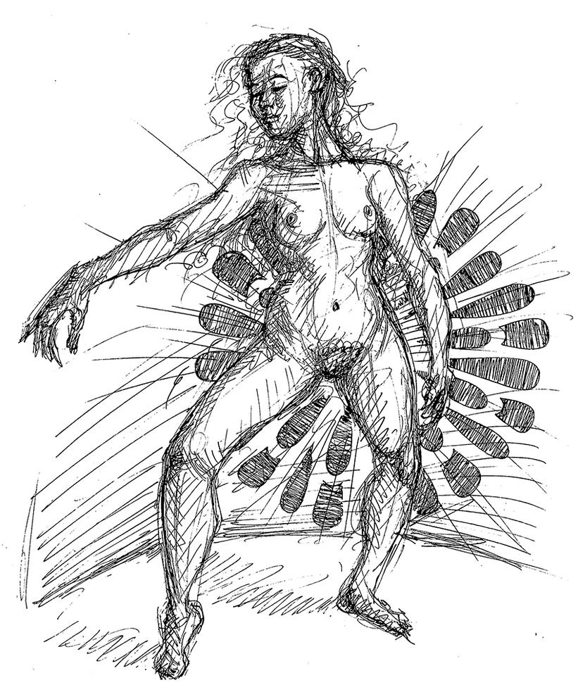 Figure Drawing in Pen and Ink by rawjawbone