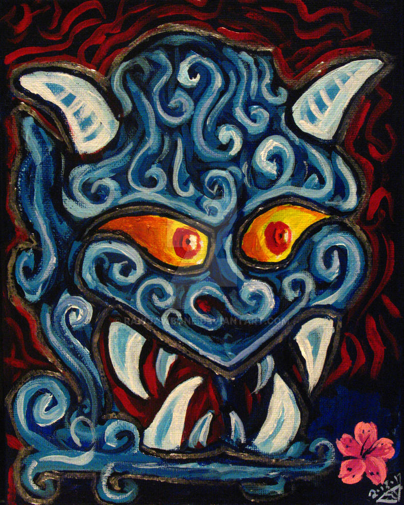 Blue Oni Mask by rawjawbone