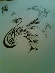 Unfinished Phoenix Drawing