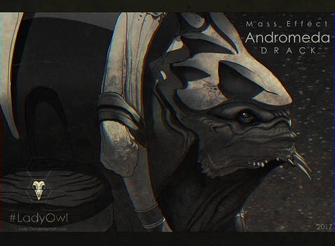 Mass Effect Andromeda Drack [Grayscale]