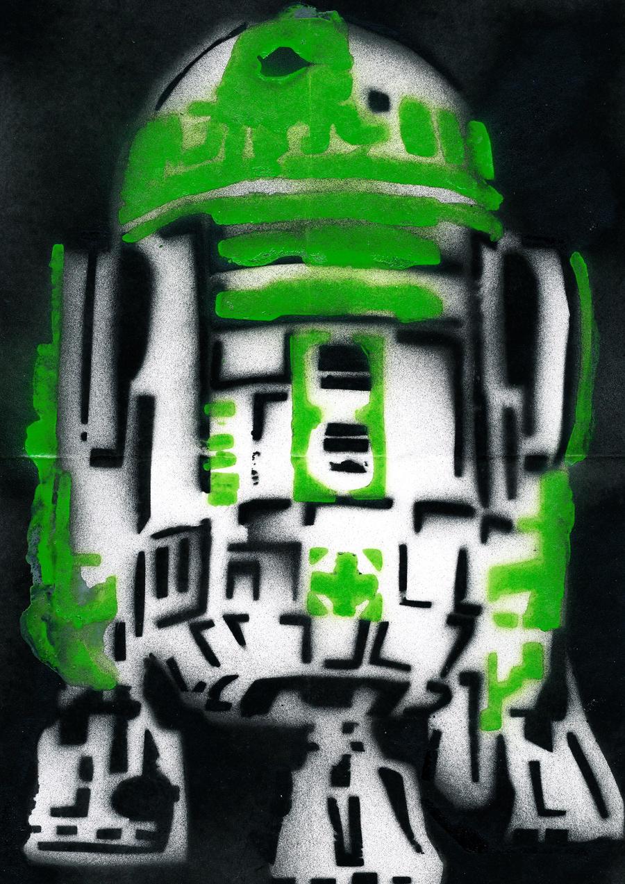 R2 D2 by jokes-on-gigi