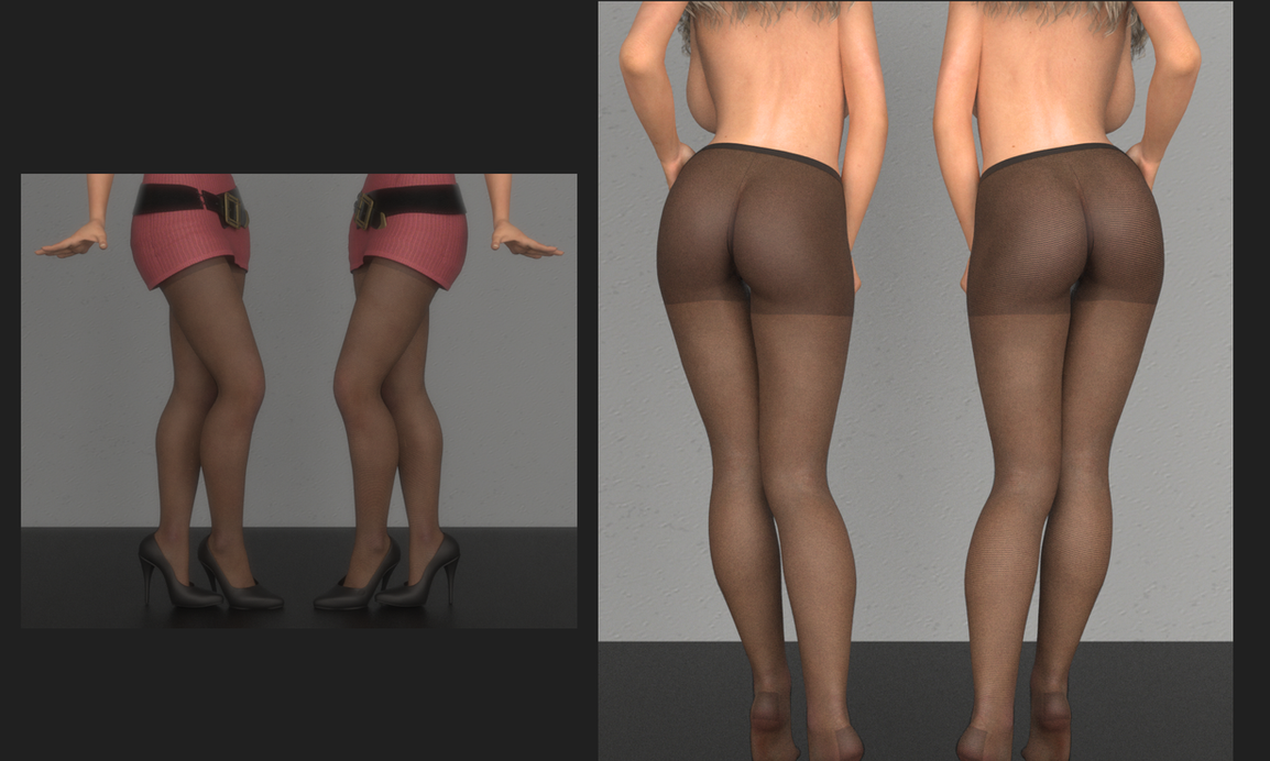 Nylon Texture - Which do you prefer ? by Fembod3d