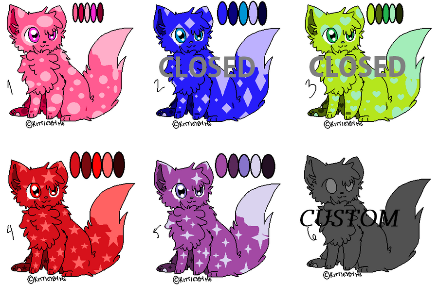 CHEAP cats adopts -shapes- [OPEN] by Mira3Lawlz