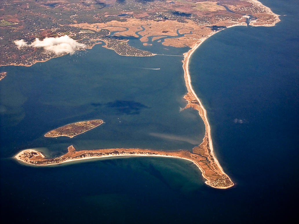 Aerial Photo Of Marshfield Duxbury Plymouth Beach By