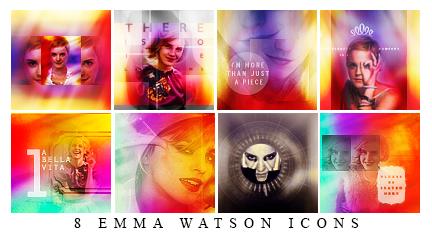 8 Emma Watson Icons by ChantiiGG