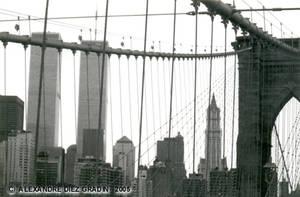 Twin Towers Brooklyn Bridge by ADiezGradin