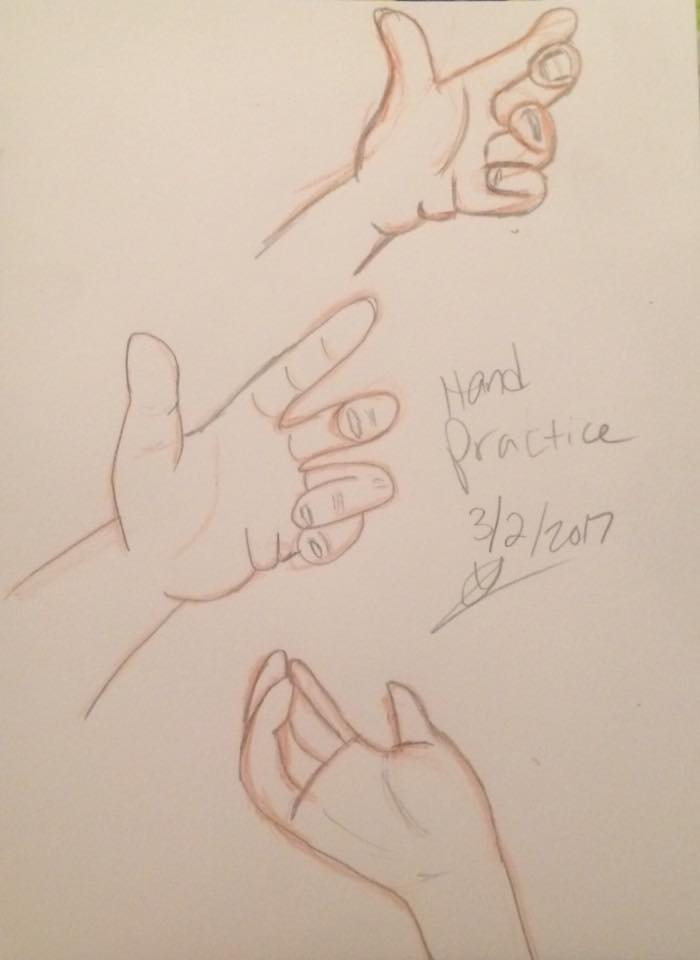 Hand Drawing Practice by Pudgester95