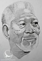 Morgan freeman portrait by Martin--Art