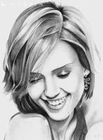 Jessica Alba Portrait by Martin--Art