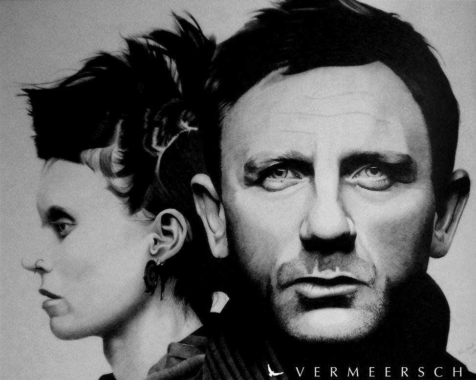 The girl with the dragon tattoo cover drawing by martin for The girl with the dragon tattoo