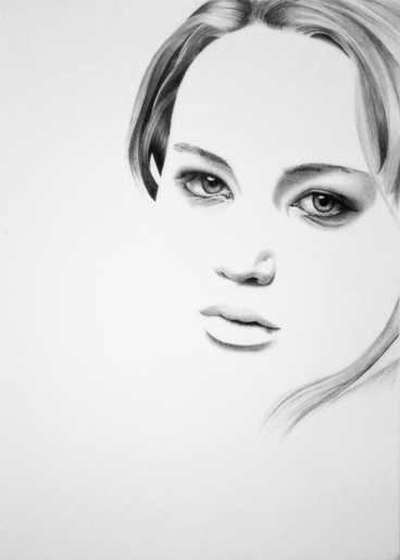 Jennifer Lawrence portrait by Martin--Art