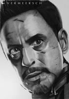 Tony Stark - Robert Downey Jr. - Iron Man 3 by Martin--Art