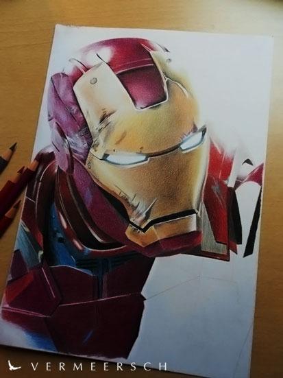 Iron Man 3 WIP by Vermeerschdrawings by Martin--Art
