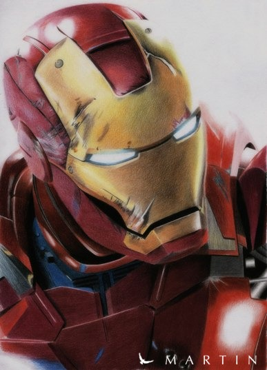 iron man 3 colour drawing by martin art - Iron Man Pictures To Colour