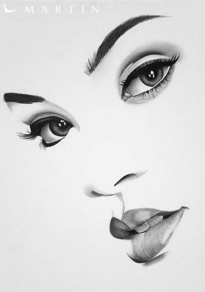 Rihanna minimalistic portrait by martin art on deviantart for Minimal art face