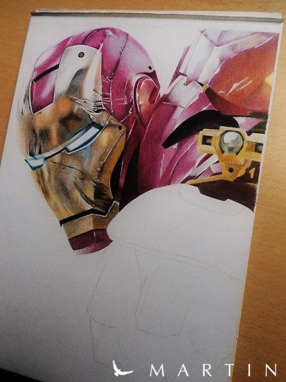 Iron Man WIP III by Vermeerschdrawings by Martin--Art
