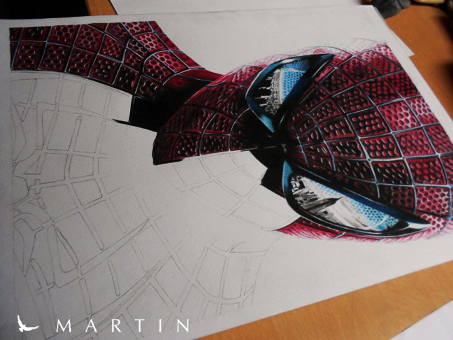 The Amazing Spiderman WIP III by Martin--Art