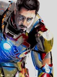 Tony Stark Rises ~ colour drawing