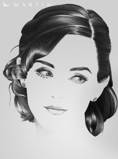 .: Emma Watson ~ minimalistic portrait :. by Martin--Art
