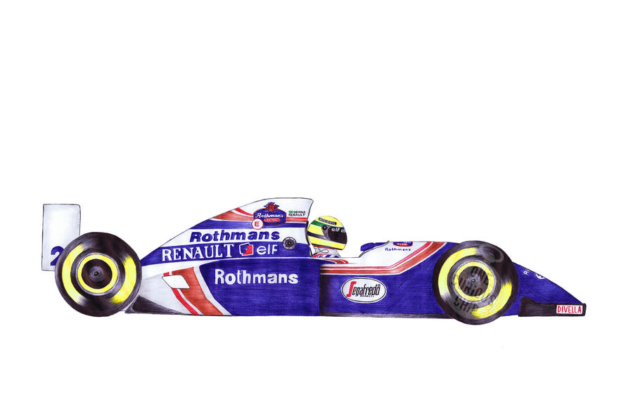 Senna (Ballpoint Pen) by onecuriouschip
