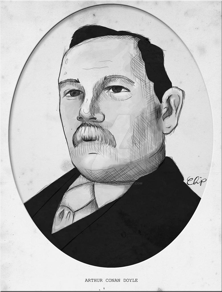 A Portrait of Sir Arthur Conan Doyle by onecuriouschip