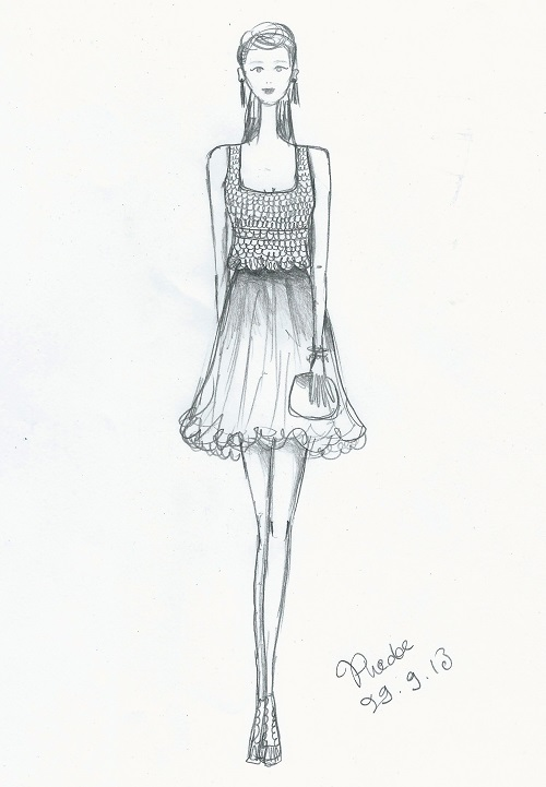 Dress Designs Drawings 2013 Sketch of my prom dress  not