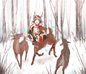 Shishio  - Winter Woods by Bunnyhana