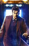 10th Doctor Who in Tardis