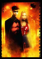 Tim Drake and Cassie by RodReis