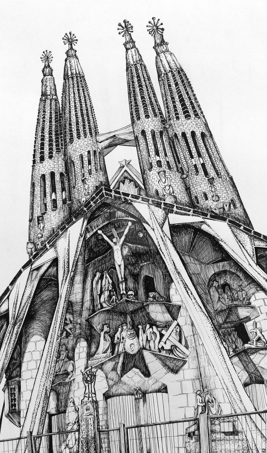 La sagrada familia by antoni gaudi by dezure on deviantart for Antoni gaudi sagrada familia architecture