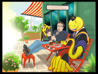 Sonny Strait and Koro-Sensei at London