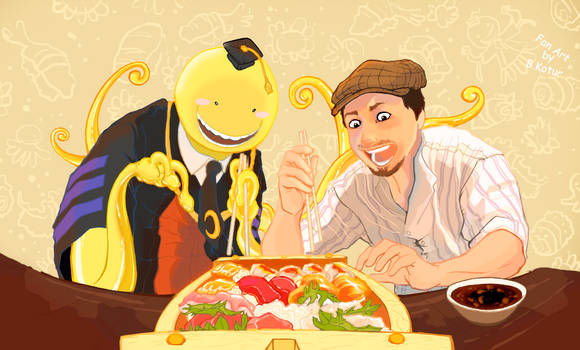 Sushi time with Sonny and Koro-Sensei